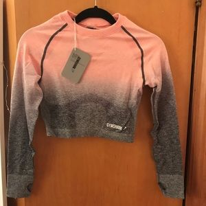 NWT Gymshark Ombré Long Sleeve Crop